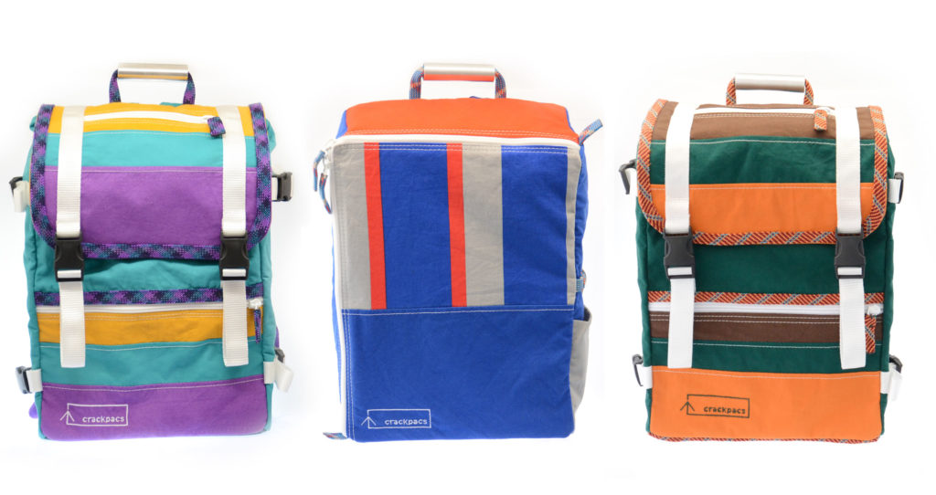 Each bag is a unique one of a kind creation. Being made from tent materials means they are light-weight water-resistant durable and adventure-ready.  sc 1 th 163 & crackpacs - bags made from tents. Backpacks chalk bags and accessories